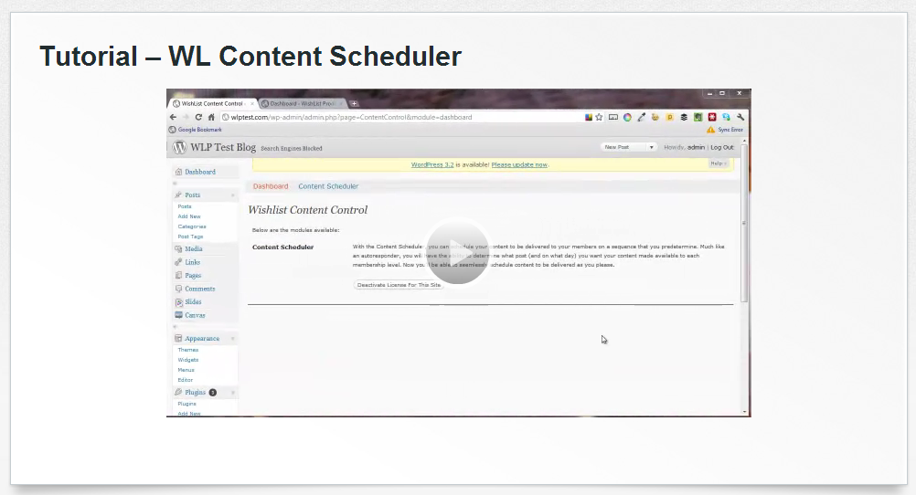 Wishlist Content Scheduler Tutorial