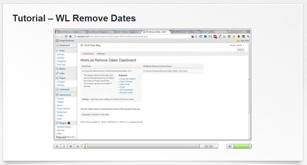 WishList Remove Dates Tutorial