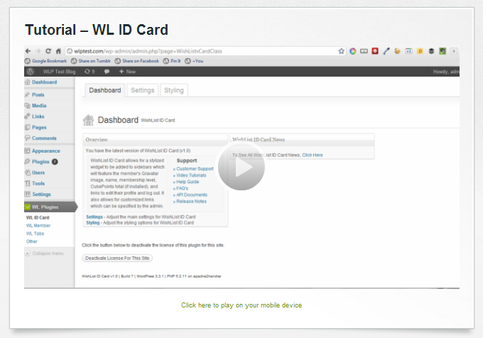 Wishlist ID Card Tutorial