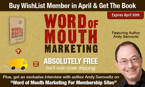 Wishlist Member Promotion – Expires April 30th 2012