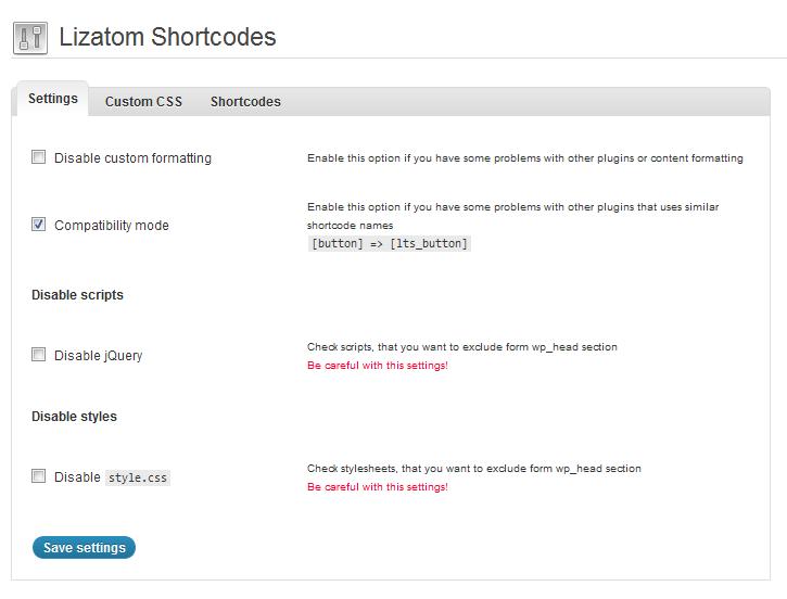 Lizatom Shortcodes