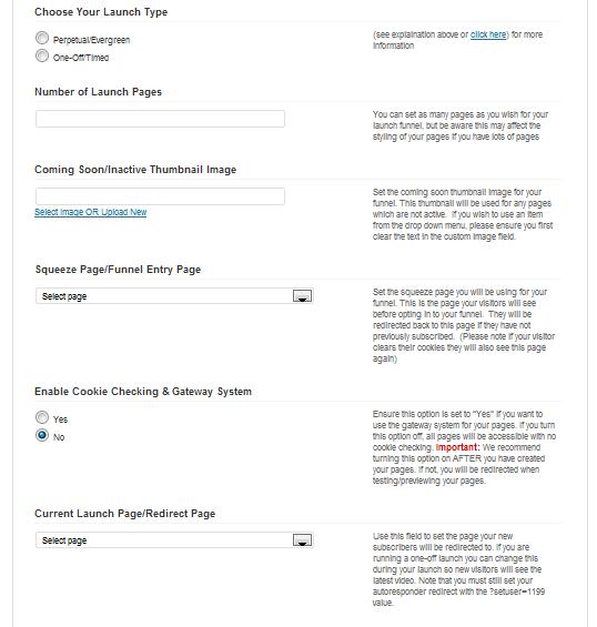 OptimizePress Funnel Config