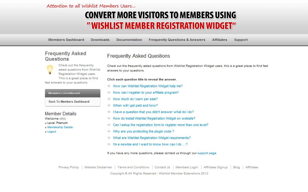 Members FAQs