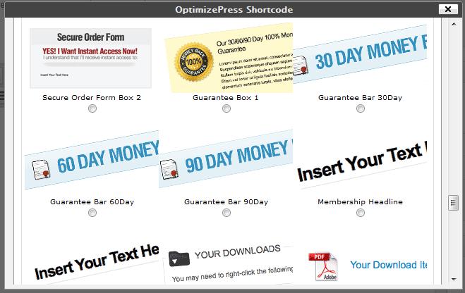 OptimizePress Shortcodes