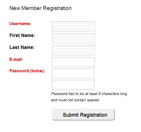 Wishlist Member Registration Form