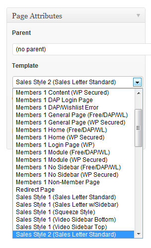 OptimizePress Templates Options