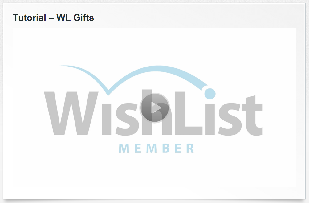Wishlist Gifts Tutorial