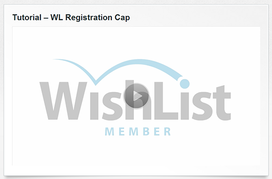 Wishlist Registration Cap Tutorial