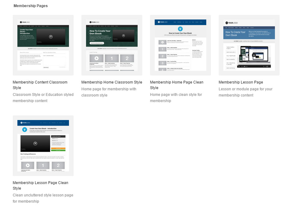 Membership Pages OptimizePress