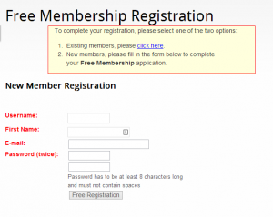 Wishlist Member Registration Form - Old