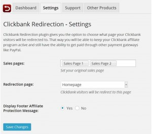 Clickbank Redirection for Clickbank Vendors