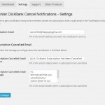 Wishlist ClickBank Cancel Notifications - Settings