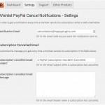 Wishlist PayPal Cancel Notifications Settings