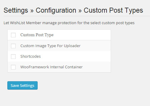 Does Wishlist Member integrate with custom post types?