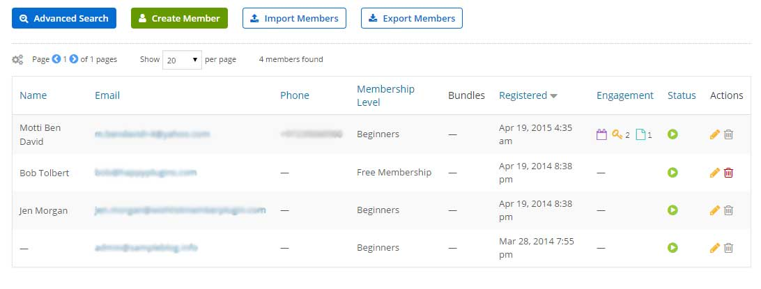 Managing Members on Member Mouse