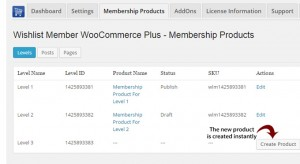 Creating New Membership Products in One Click