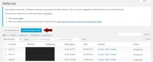 AffiliateWP Payout File