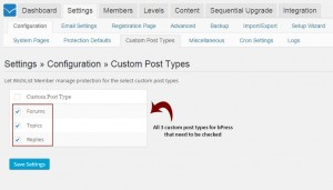 Enabling bbPress Custom Post Types in Wishlist Member Settings