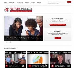 Platform University Website