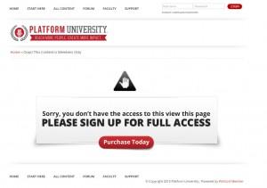 Platform University Error Page