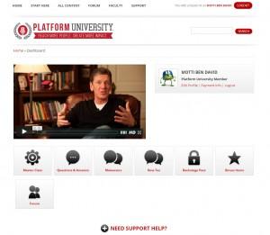 Platform University Members' Dashboad