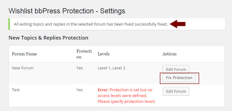 Existing Topics and Replies Protection