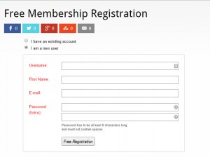Free Wishlist Member Registration Form