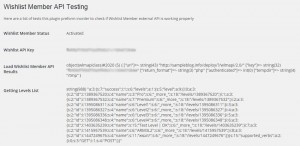 Wishlist Member API Testing OK