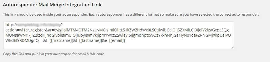 Wishlist 1-Click Registration - Autoresponder Registration Link