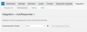 Wishlist Member ConvertKit Integration Settings