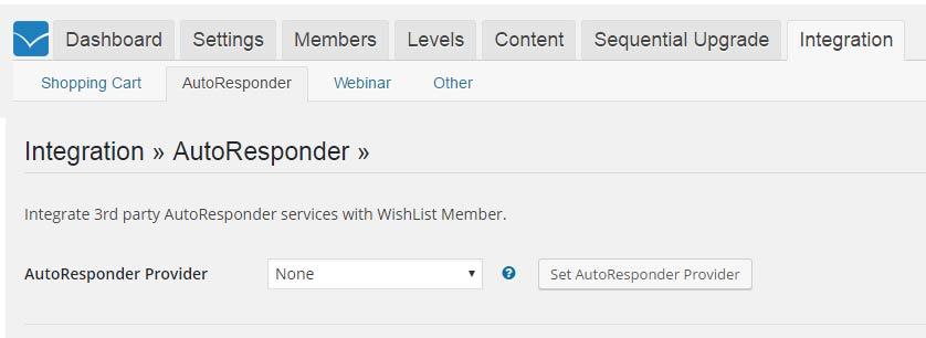 Wishlist Member ConvertKit Integration Settings