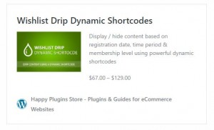 Wishlist Drip Dynamic Shortcodes