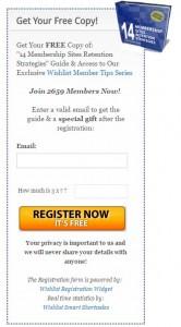 Wishlist Registration Form