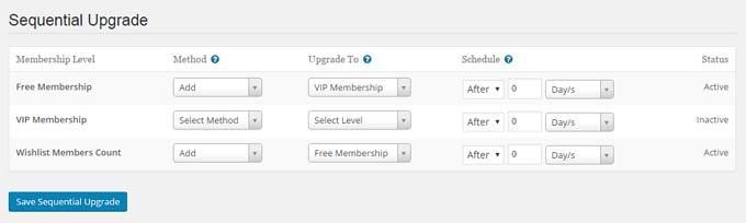 Sequential Upgrade Feature