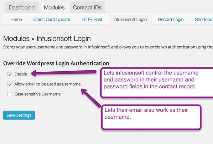 Wishlist Member for InfusionSoft - InfusionSoft Login Module