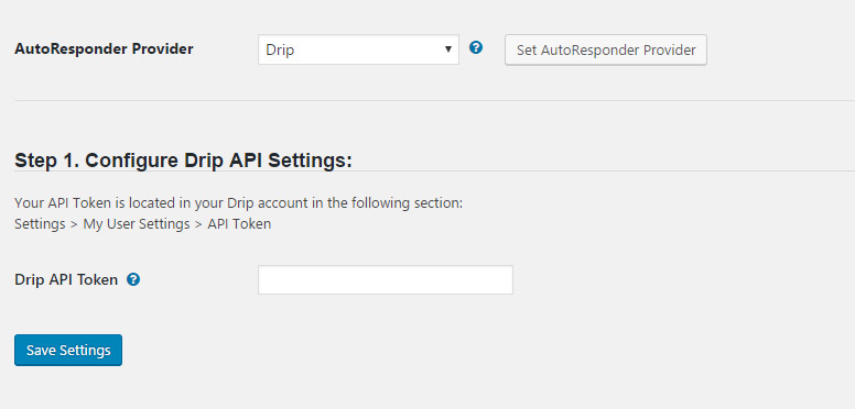 Wishlist Member Drip Integration - API Token Configuration