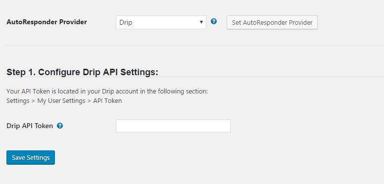 Wishlist Member Drip Integration - API Token Configuration