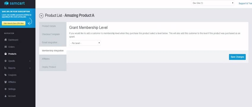 Wishlist Member SamCart Integration Settings - Step #5
