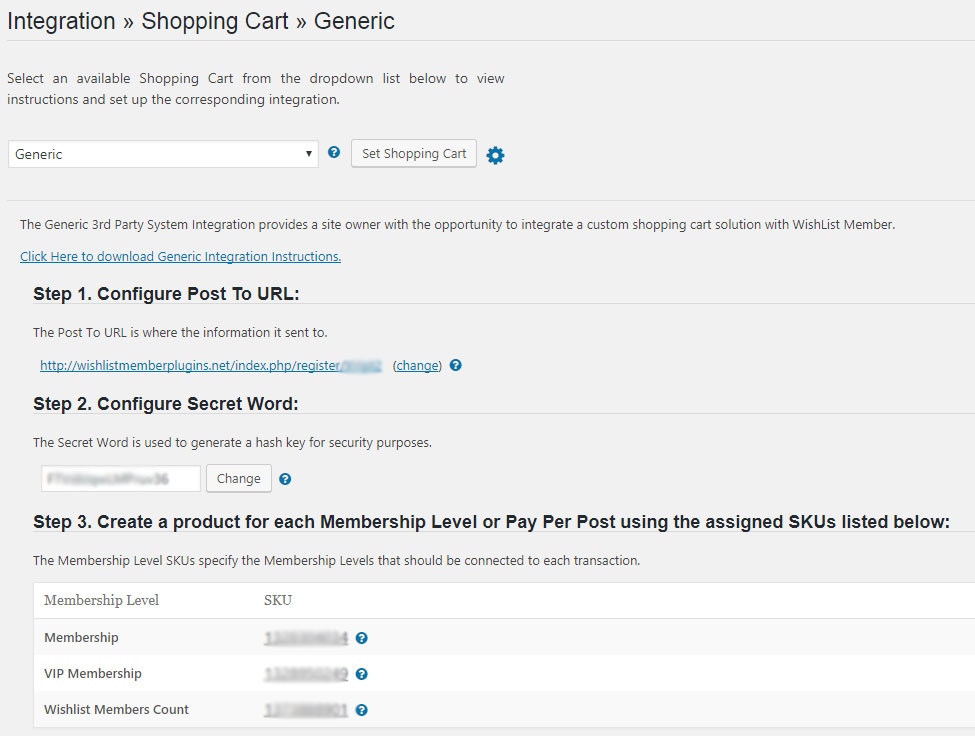 Wishlist Member ThriveCart Integration - Shopping Cart Integration