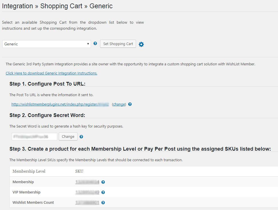 Wishlist Member ThriveCart Integration - Shopping Cart Integration