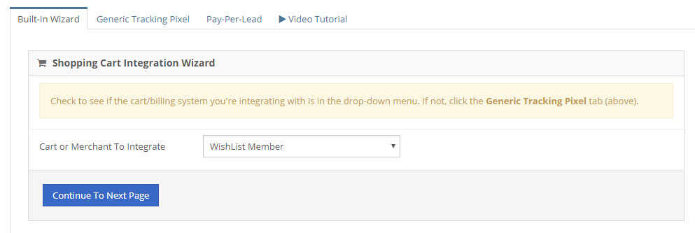 iDevAffiliate Extension For Wishlist Member Configuration - Step 1