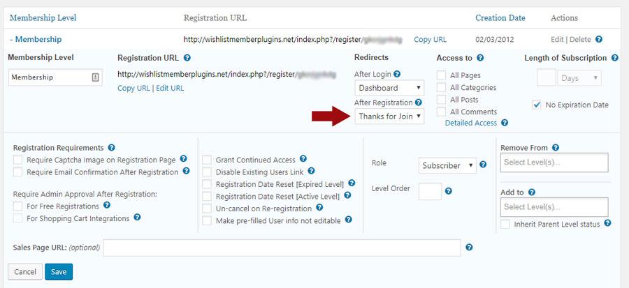 Wishlist Member AffiliateWP Integration Step 1