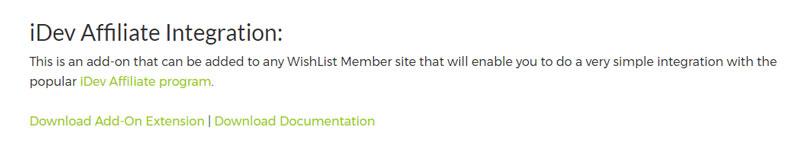 Wishlist Member iDevAffiliate Integration Add-On