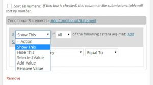 Adding a Conditional Statement - NinjaForms Conditional Logic