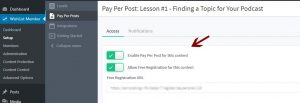 Step #2 - Protect the relevant lesson under free pay-per-post protection